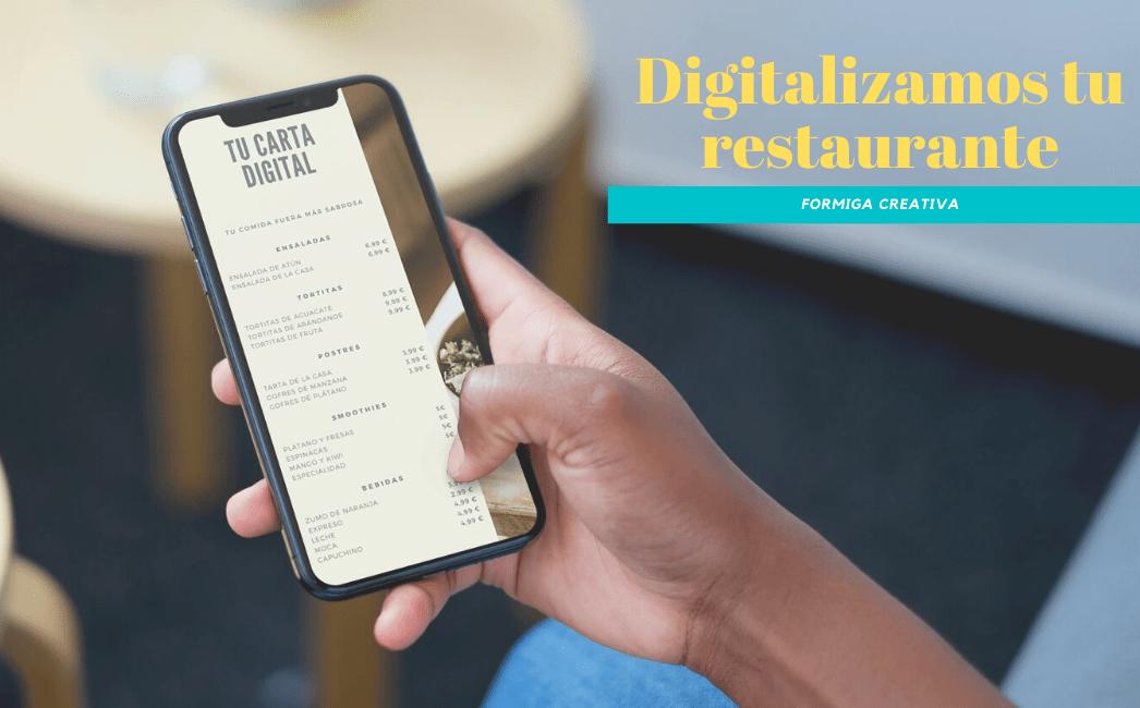 digitalización carta restaurante