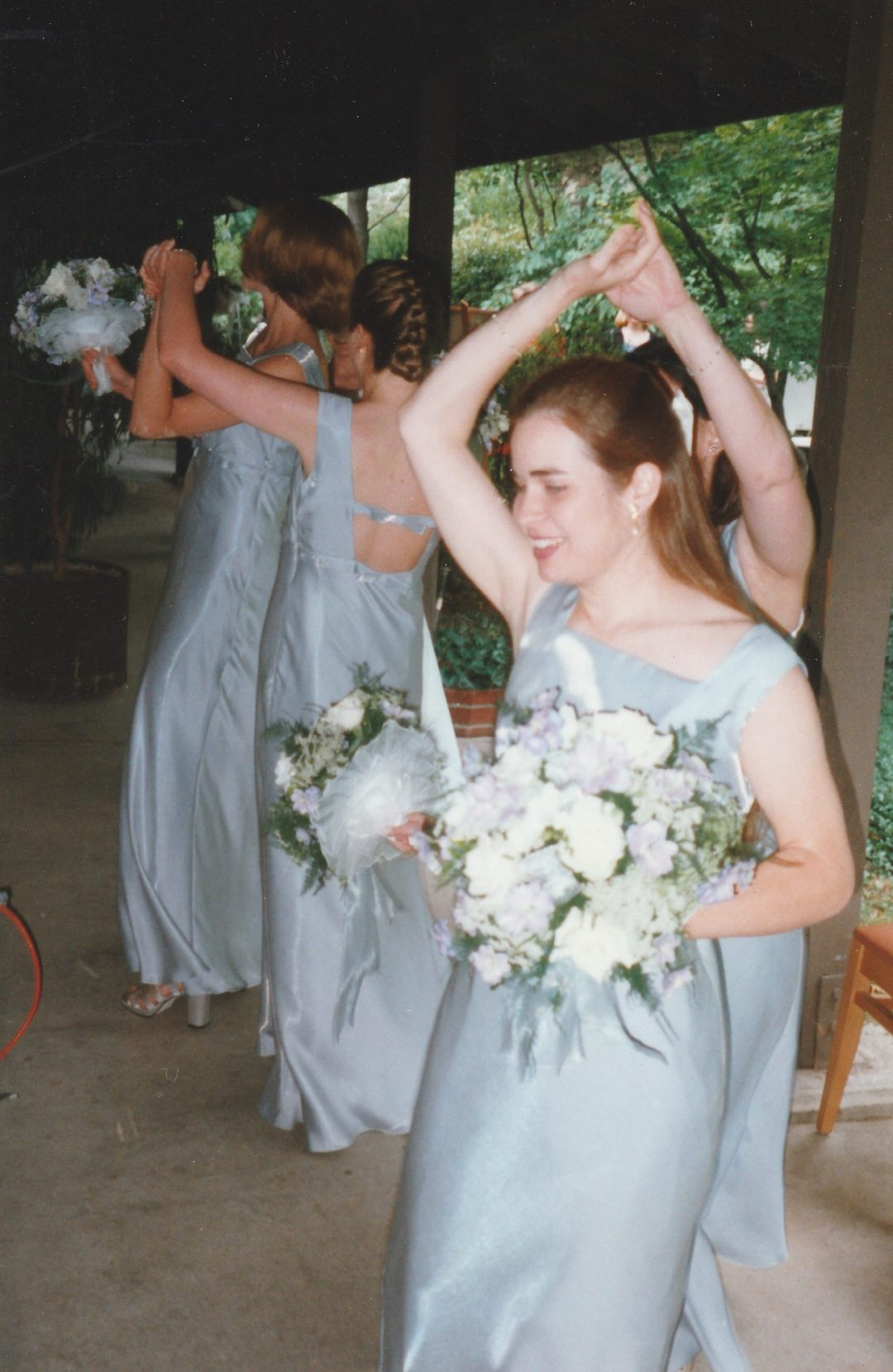 Bridesmaids before the ceremony