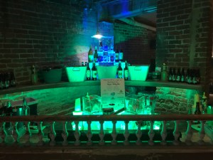 Lighting up the bar for a corporate event