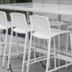 Bar Height Table And Chairs Outdoor Cloth Dining Avivo Forms Surfaces Shown With Cream Texture Powdercoated Frame