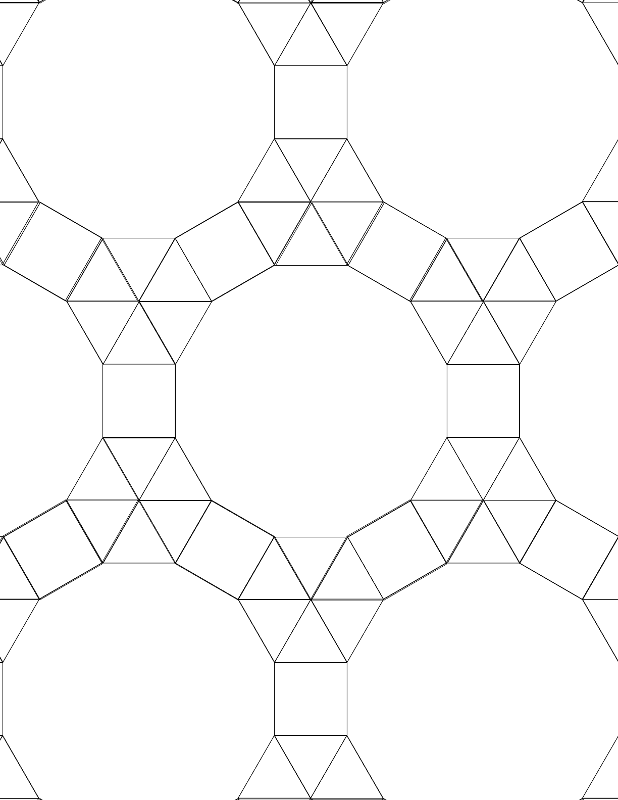 Tessellation Graph Paper (3.3.3.3.3,3.3.4.12) Free Download