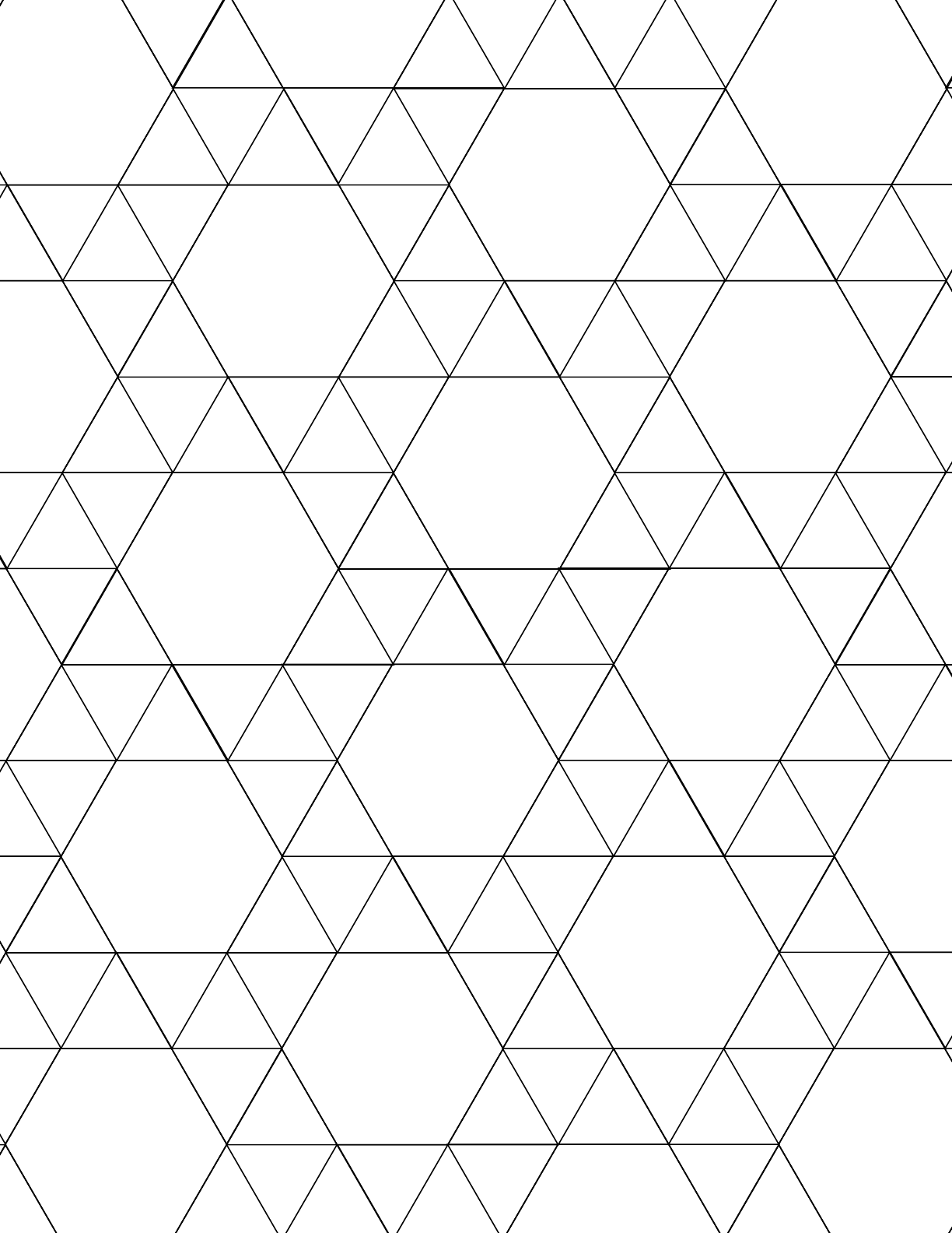 Tessellation Graph Paper (3.3.3.3.6) Free Download