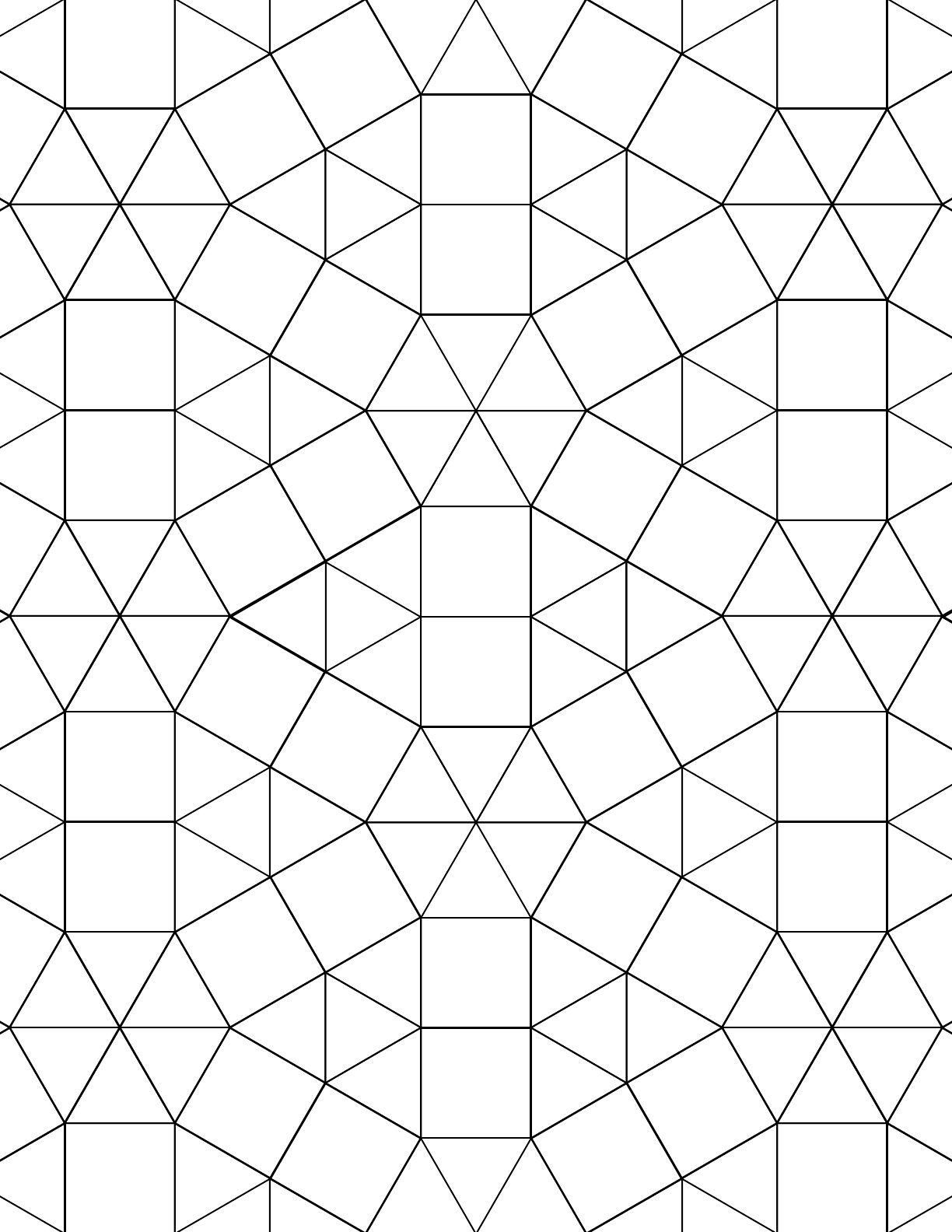 Tessellation Graph Paper (3.3.3.3.3.3,3.3.4.3.4) Free Download