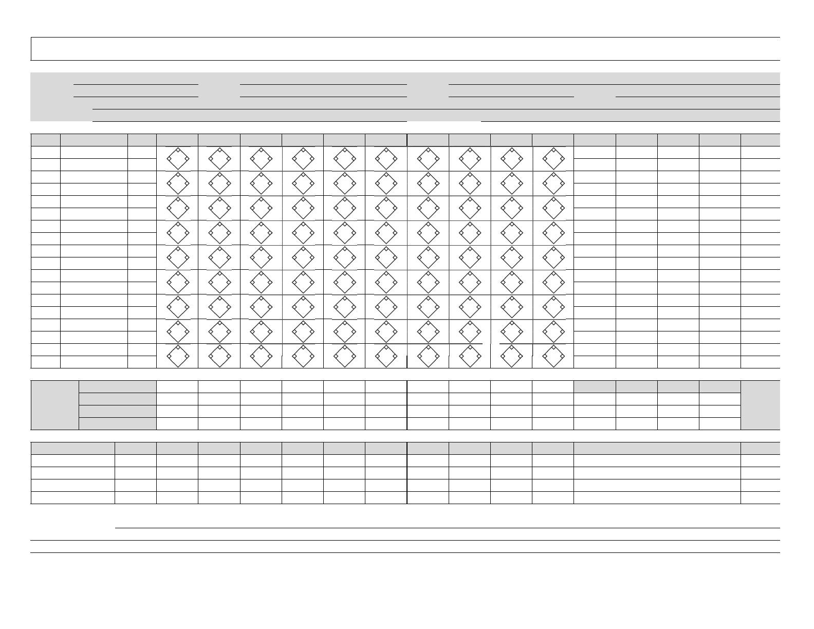 Baseball Scoresheet Example Free Download