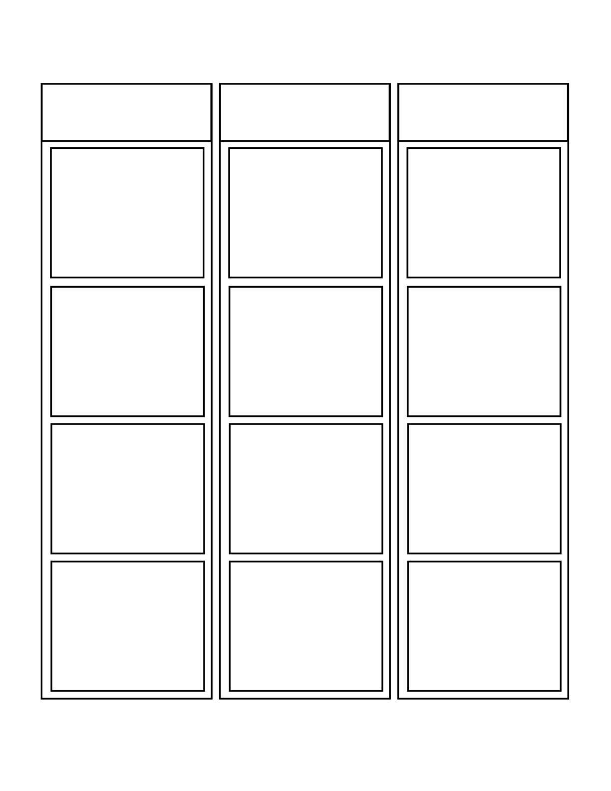 Blank Vertical Comic Strip Free Download