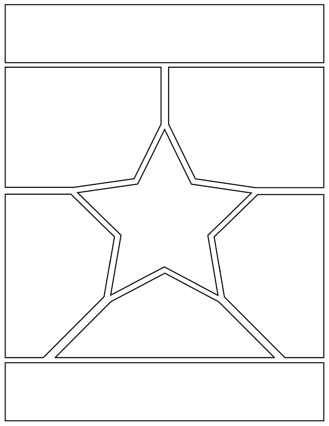 Manga Page with Star Free Download