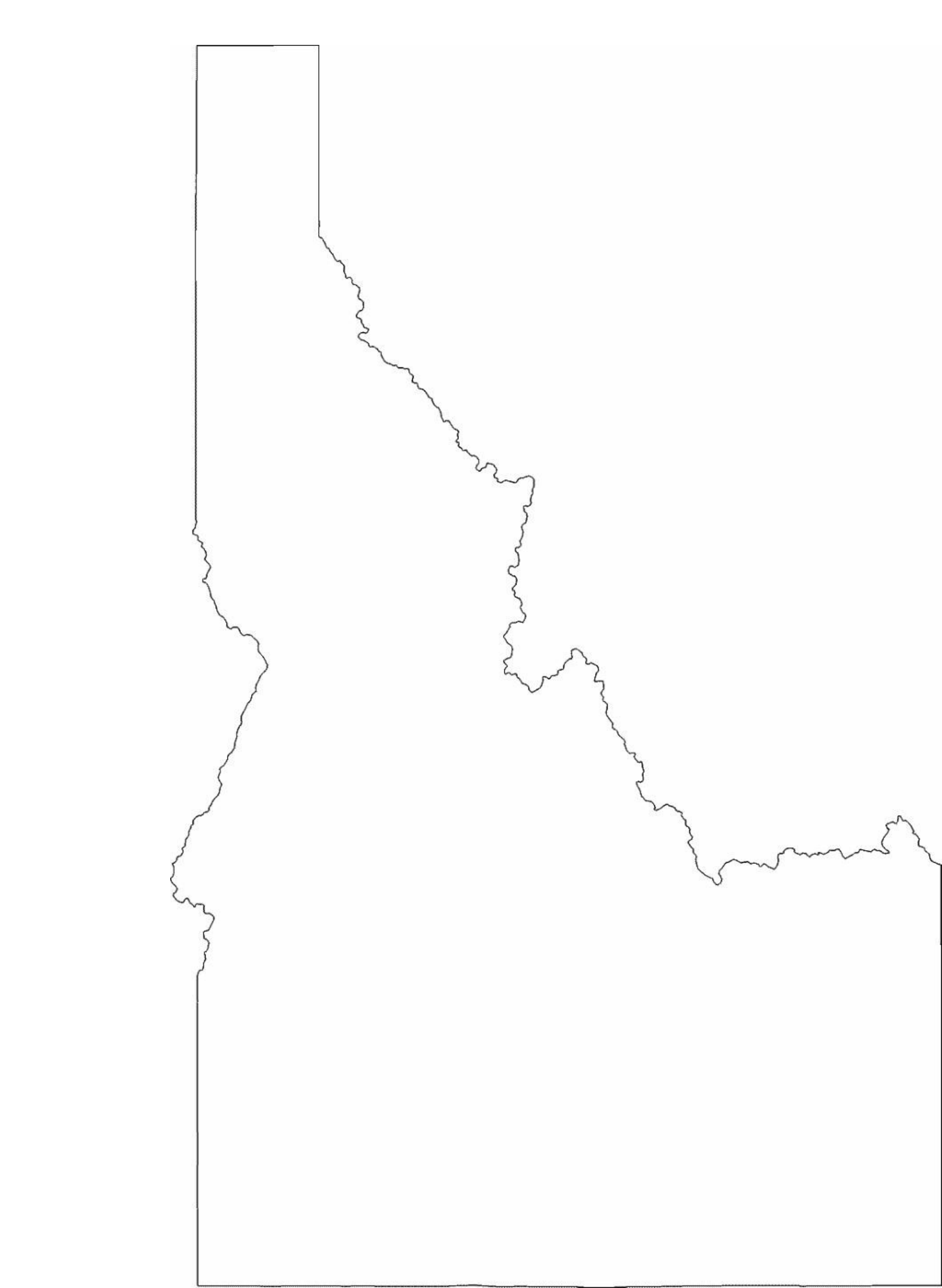 Idaho State Outline Map Free Download