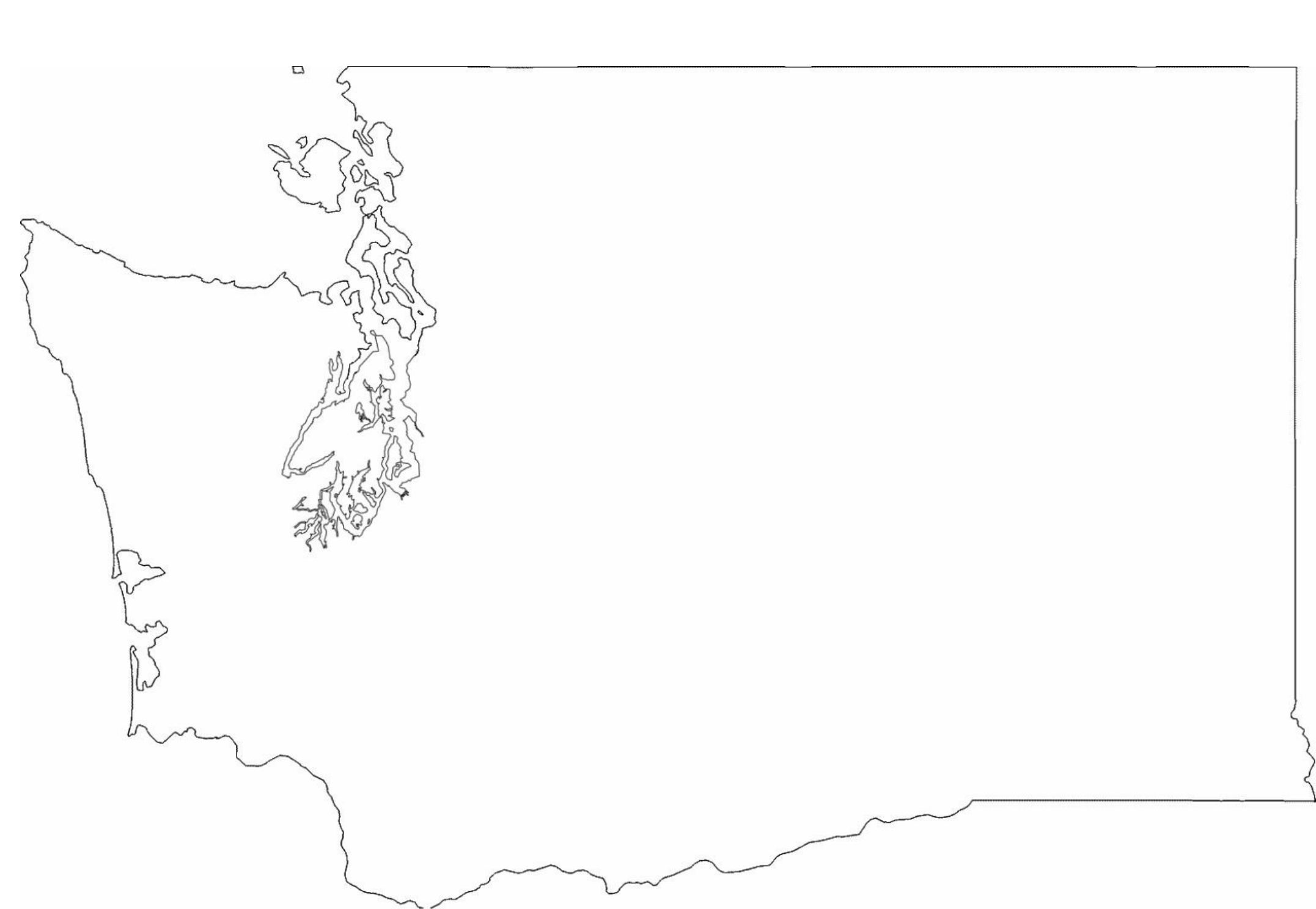 Washington State Outline Map Free Download