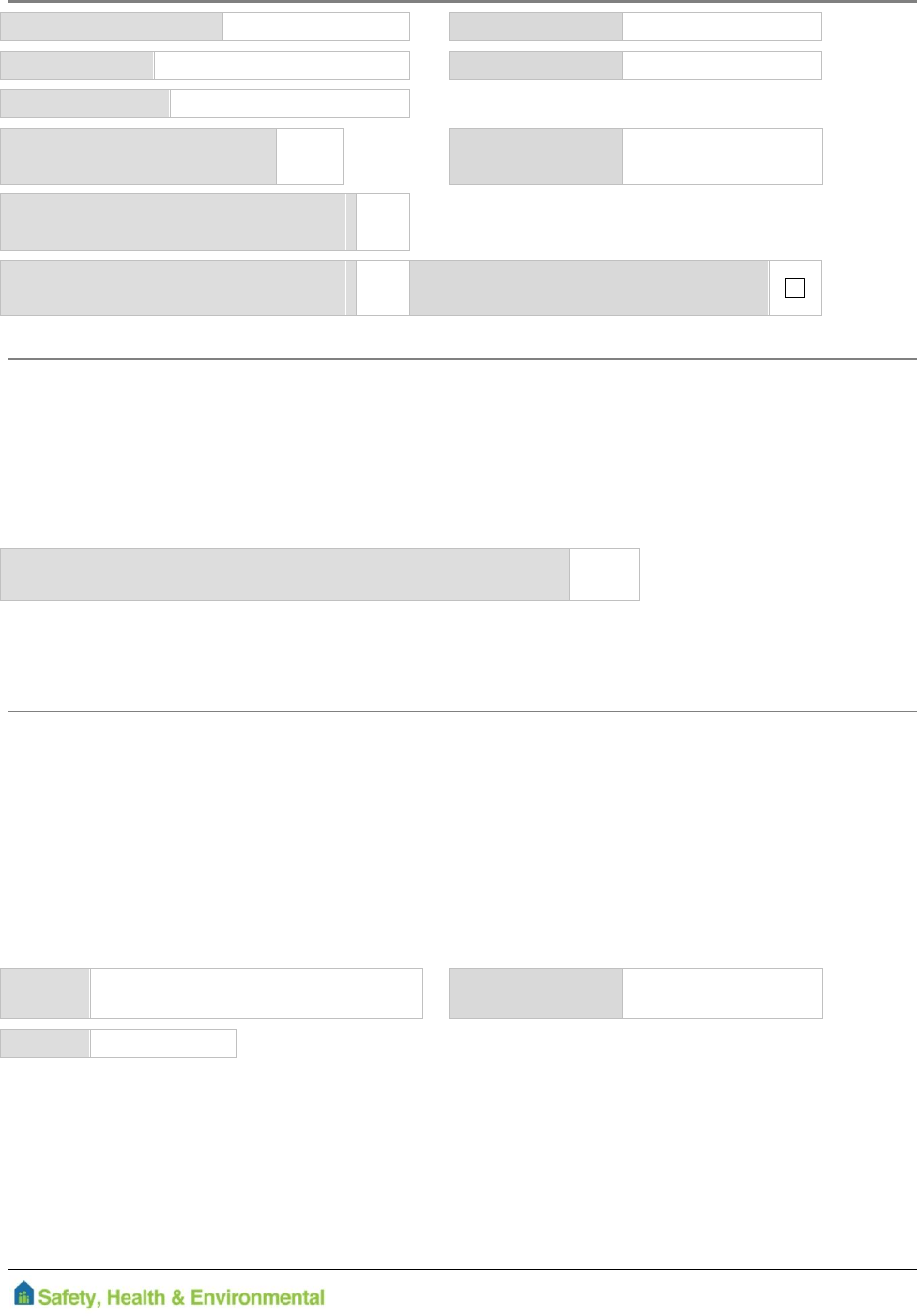 Blank Drivers Declaration Form Free Download