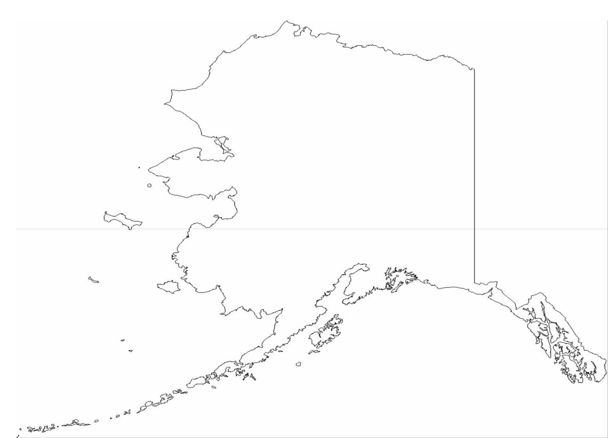 Alaska State Outline Map Free Download