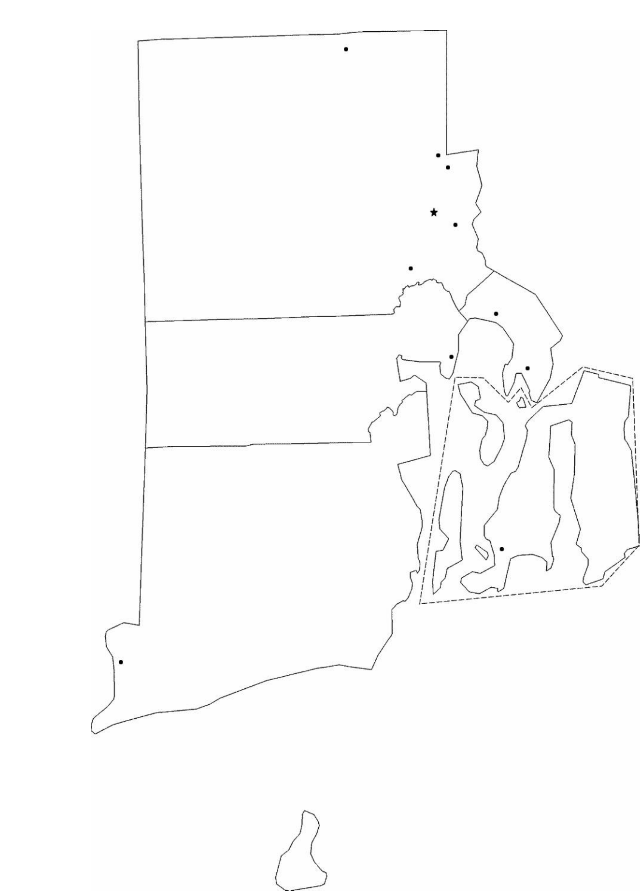Blank Rhode Island City Map Free Download