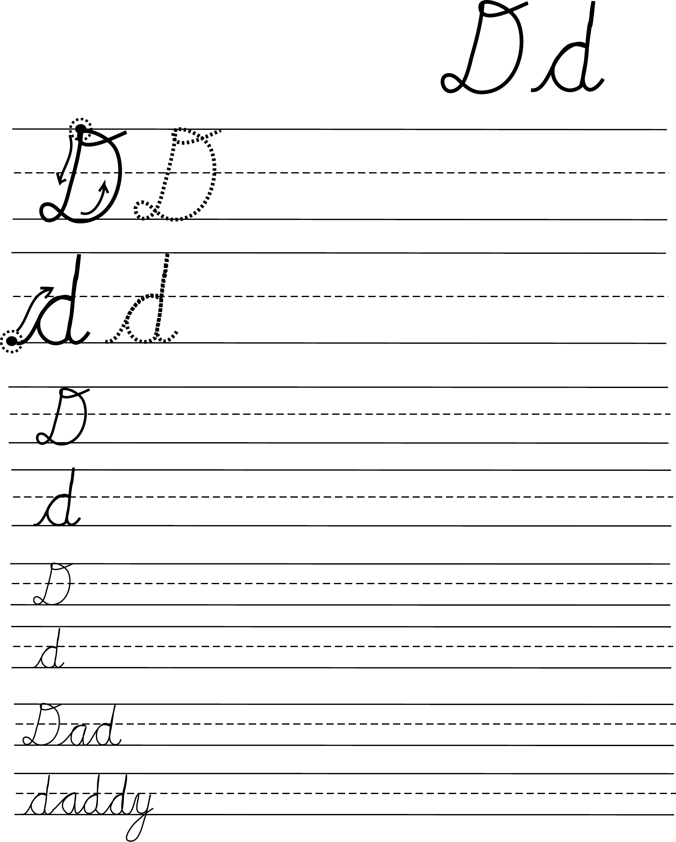Cursive Handwriting Practice Free Download