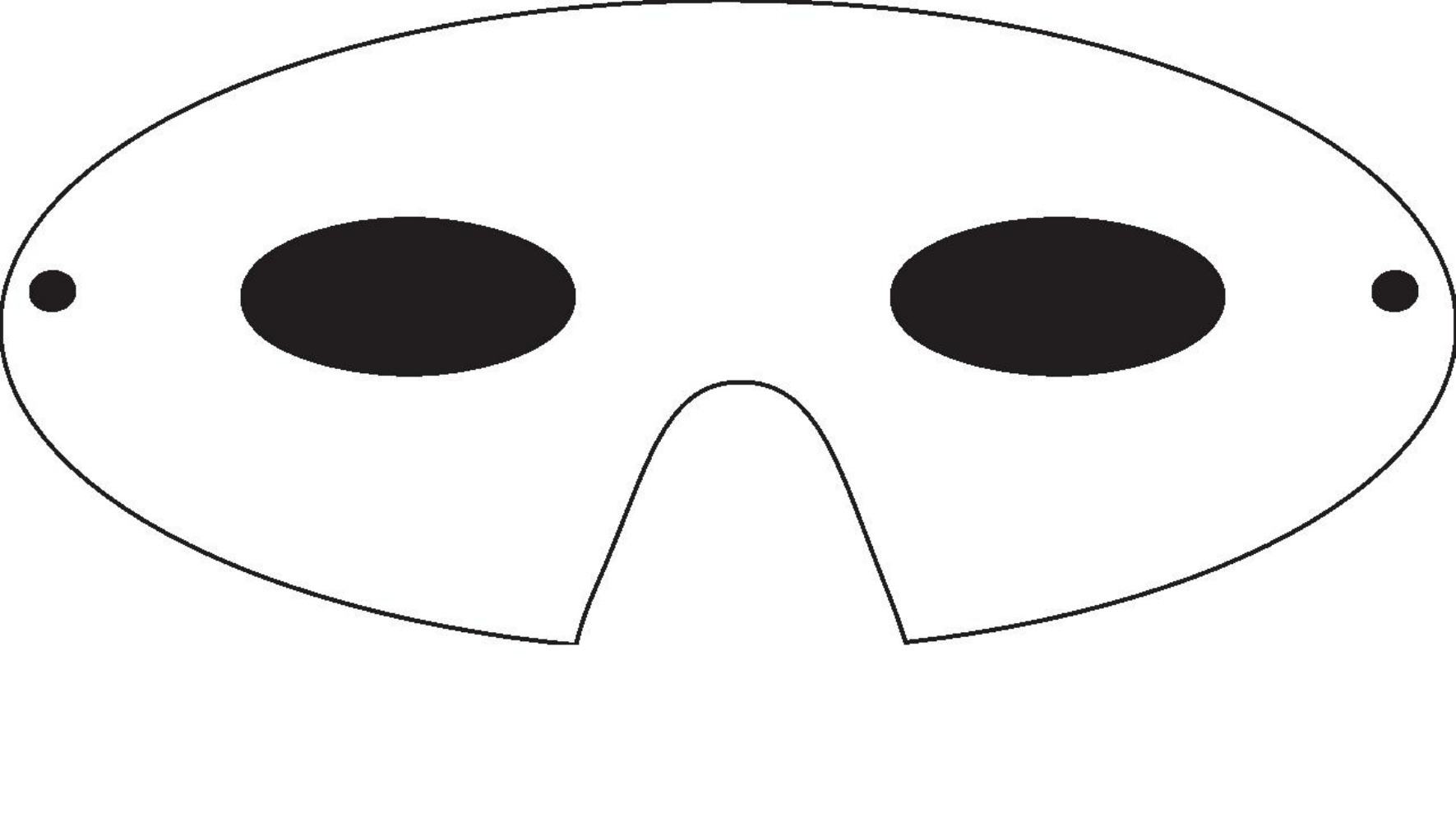 Adult Mask Template Free Download