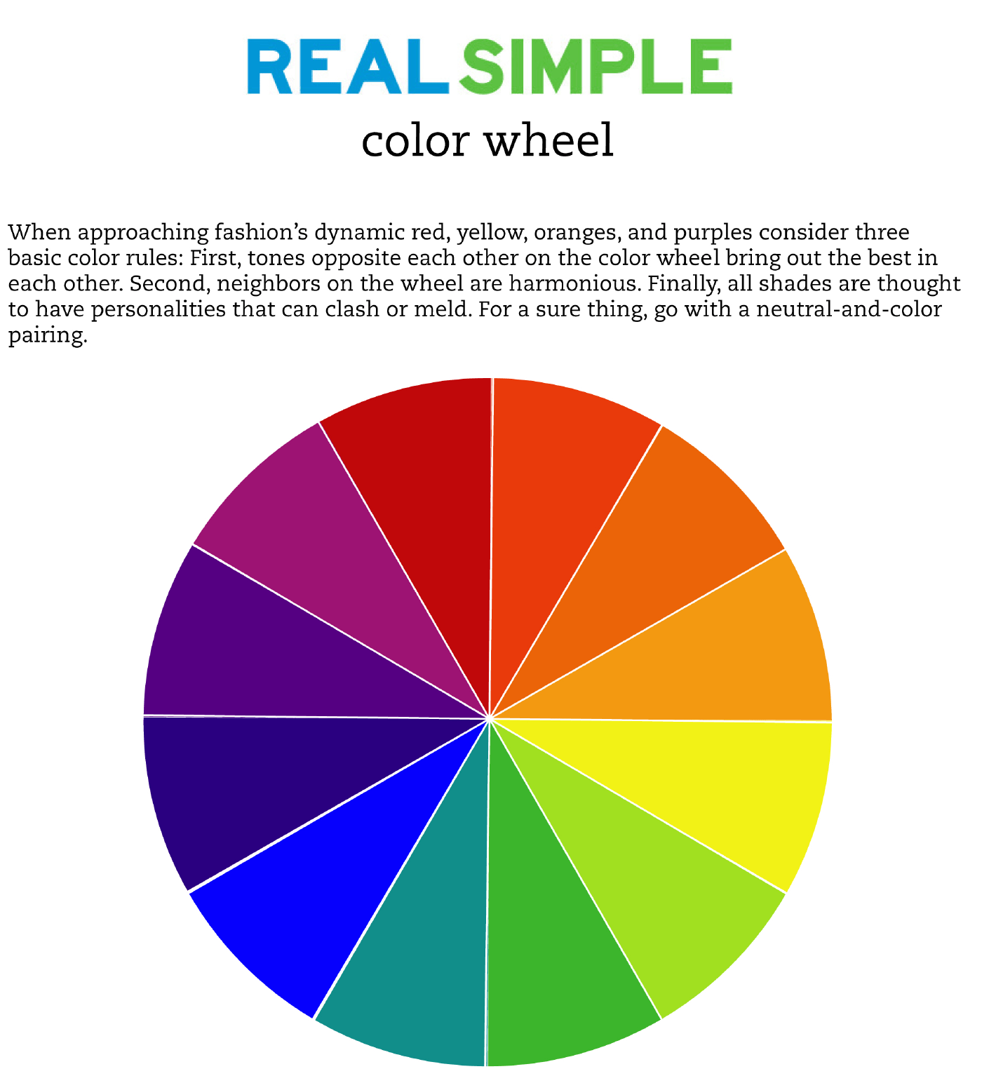Real Simple Color Wheel Free Download