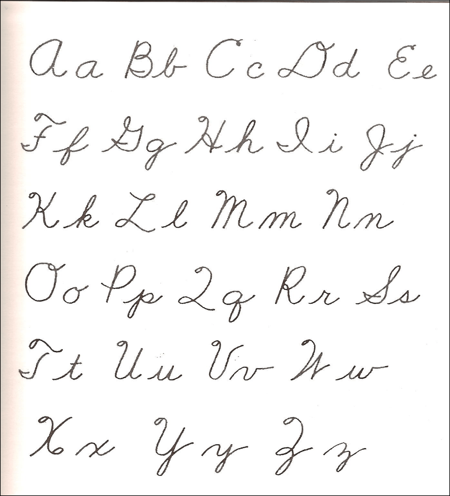 Cursive Alphabet First Free Download