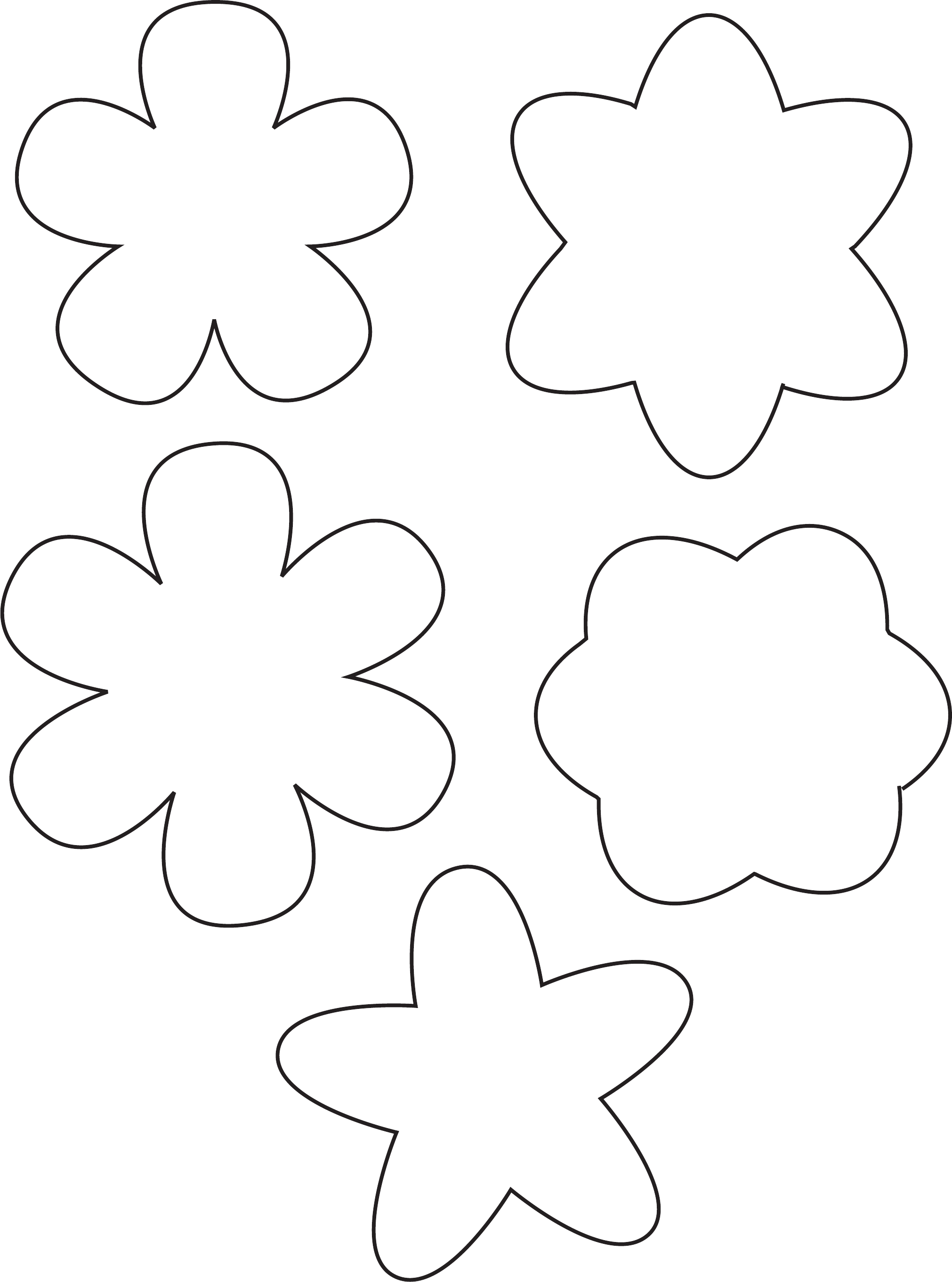 Simple Flower Template Free Download