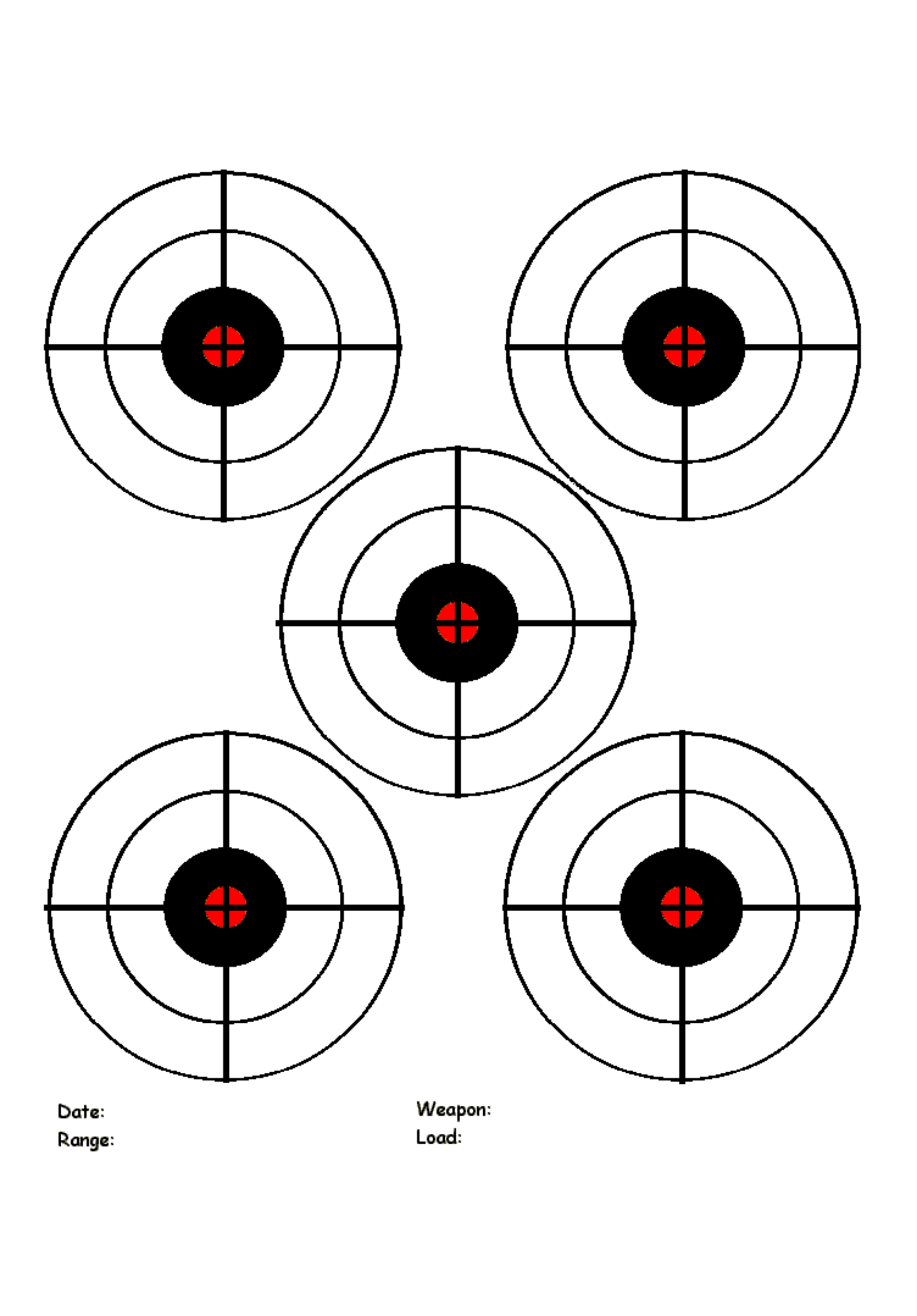 Printable Targets Template Free Download