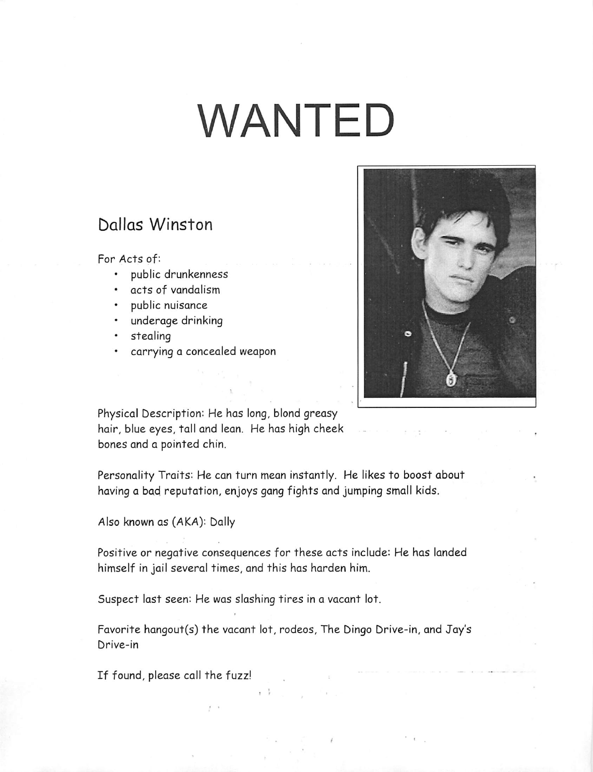 Wanted Poster Sample Free Download