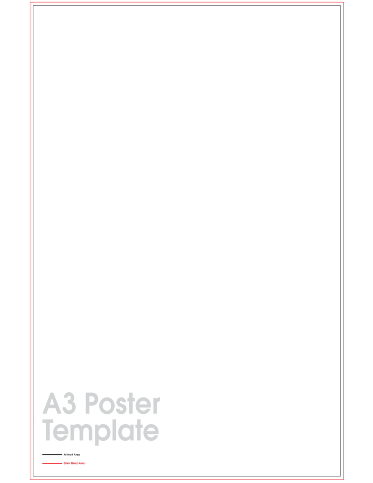 A3 Poster Sample Template Free Download