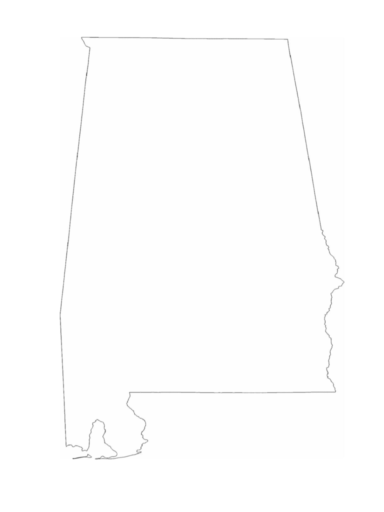 Alabama Map Template 8 Free Templates In PDF Word