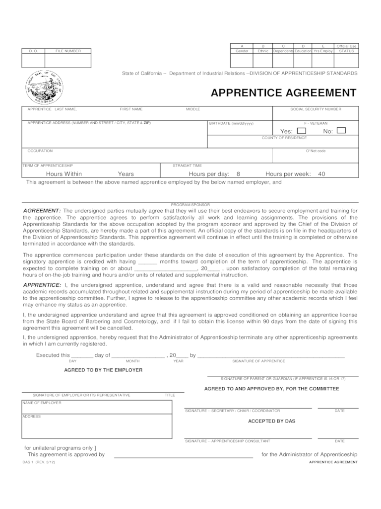 Tattoo apprenticeship contract template for Apprenticeship contract template