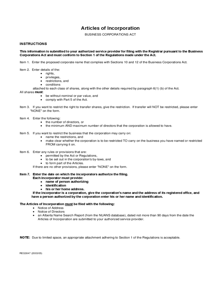 The division of corporations strongly recommends that corporate. Articles Of Incorporation Sample Template Free Download
