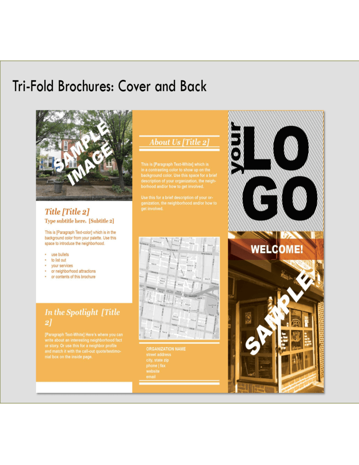 Bi Fold Brochure Front And Back Free Download