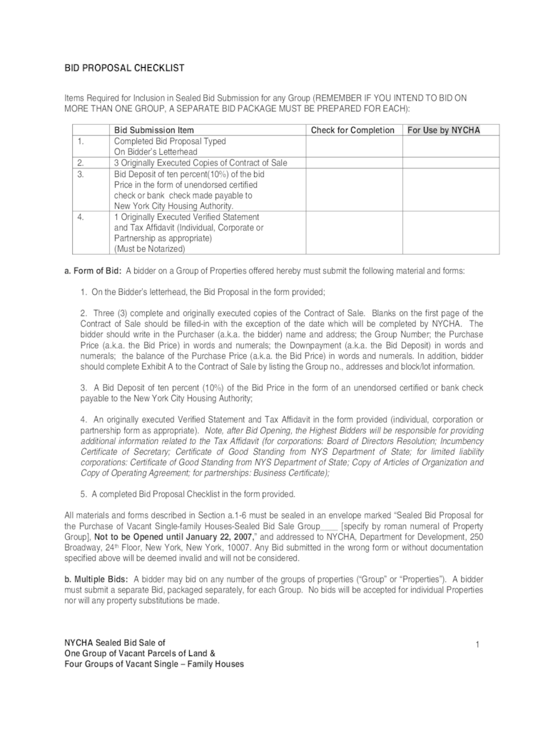 Bid Proposal Template 3 Free Templates In PDF Word