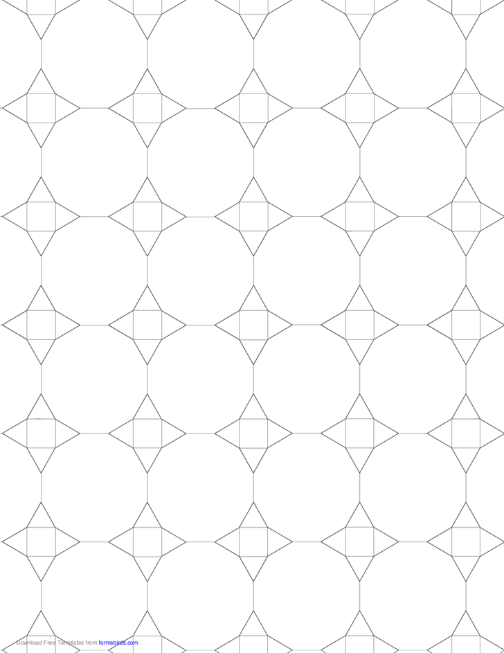 Small Tessellation Graph Paper (3.12.12,3.4.3.12) Free