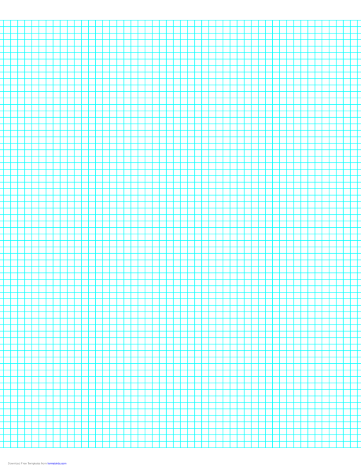 6 Lines per Inch Graph Paper on LetterSized Paper Free Download