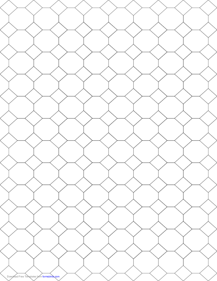 Tessellation Graph Paper (4.8.8) Free Download
