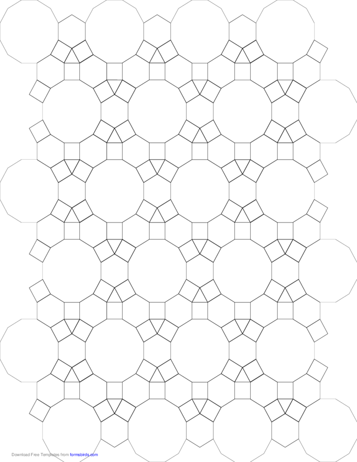 Tessellation Small Graph Paper (3.4.6.4, 4.6.12) Free Download
