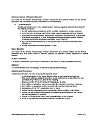 Board Meeting Agenda Template - California Free Download