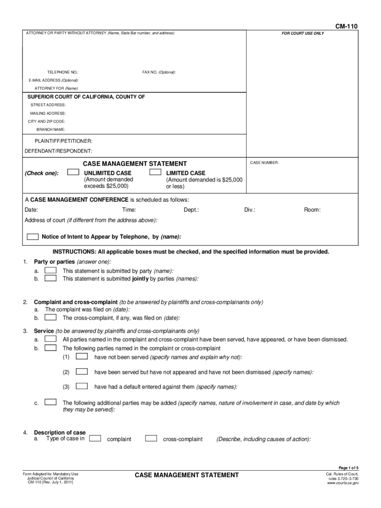 California Case Management Forms  7 Free Templates in PDF Word Excel Download