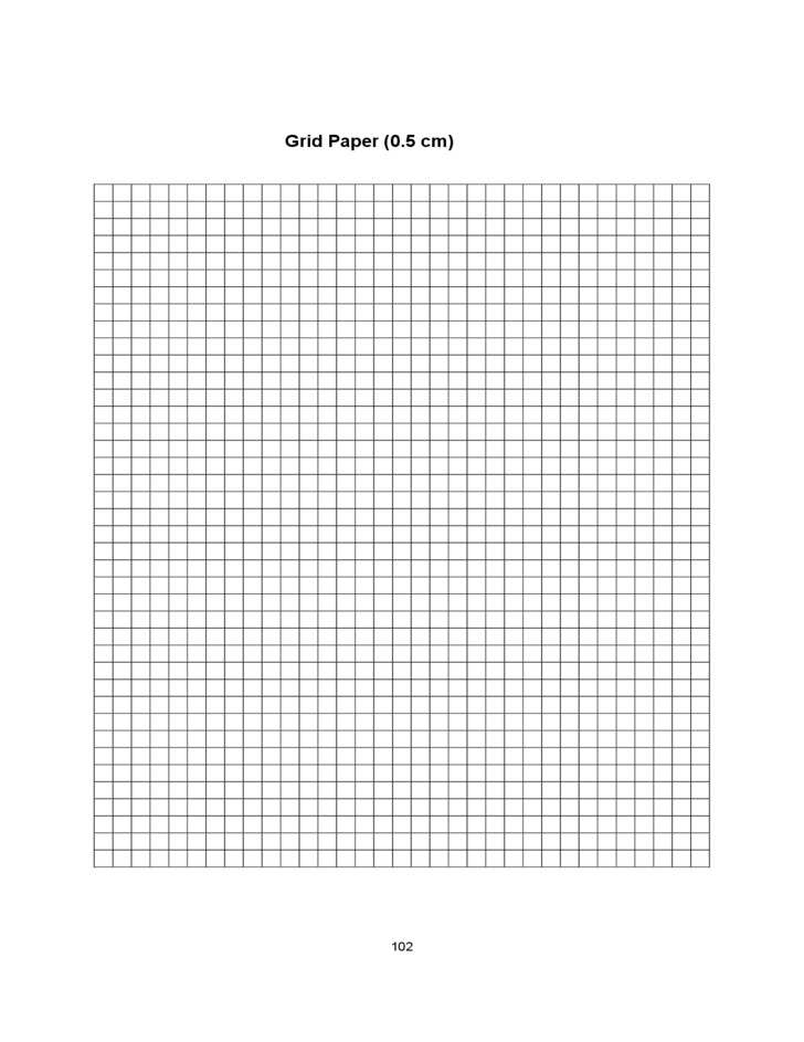0.5 Centimeter Graph Paper Template Free Download