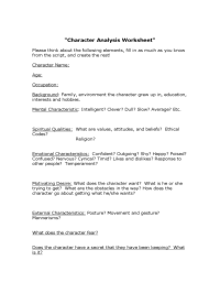 Character Analysis Template - 2 Free Templates in PDF ...