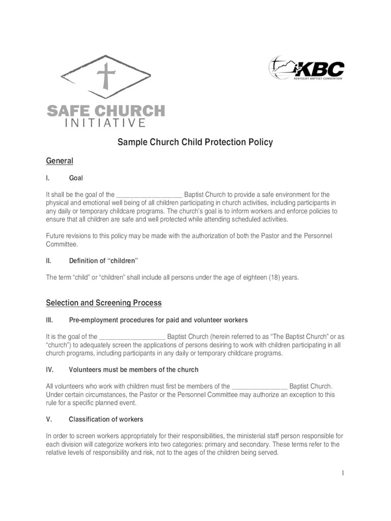 Child Protection Policy Template  2 Free Templates in PDF