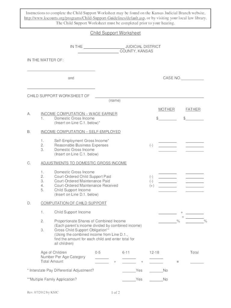 Kansas Divorce Forms Free Templates In PDF Word Excel