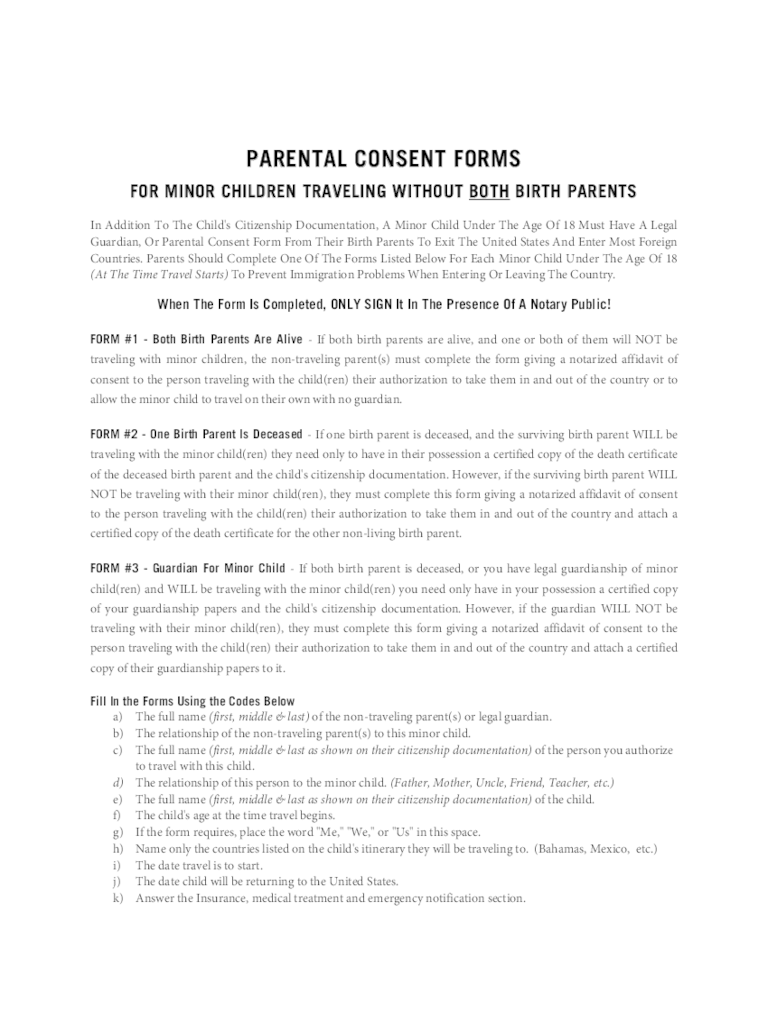 Parental Consent Form Template Travel Parental Consent Form Template  Playbestonlinegames