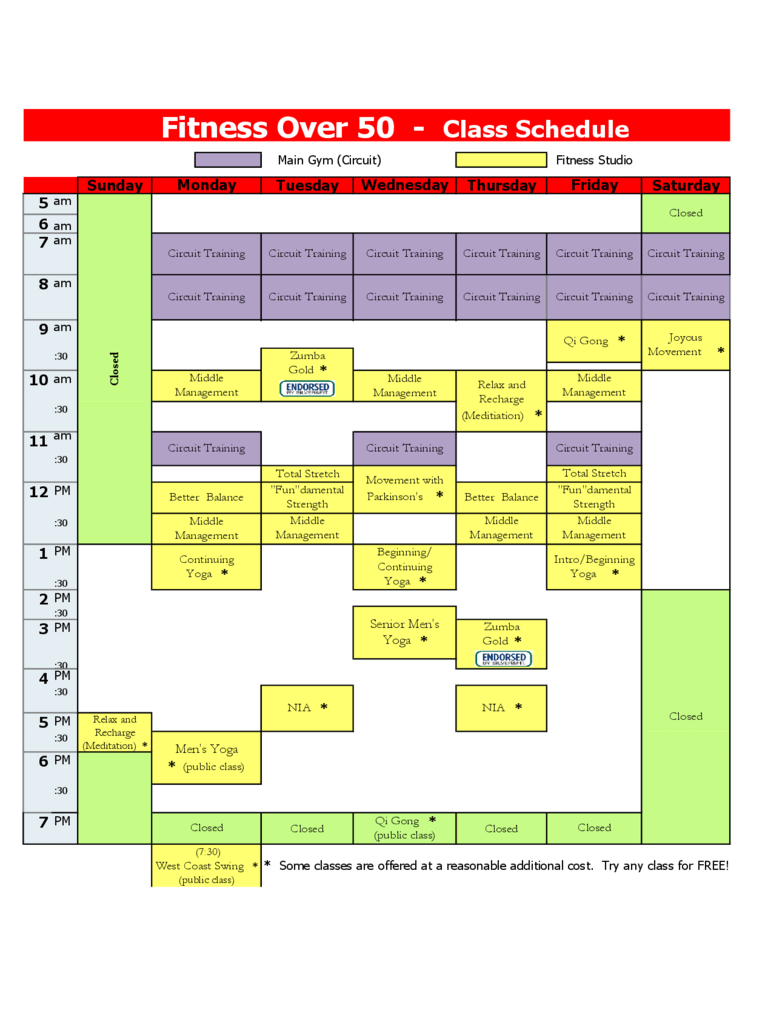 Class Schedule Template  5 Free Templates in PDF Word