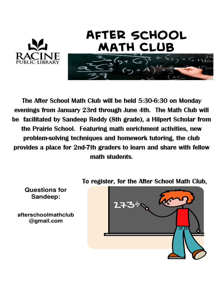 After School Math Club Flyer Free Download