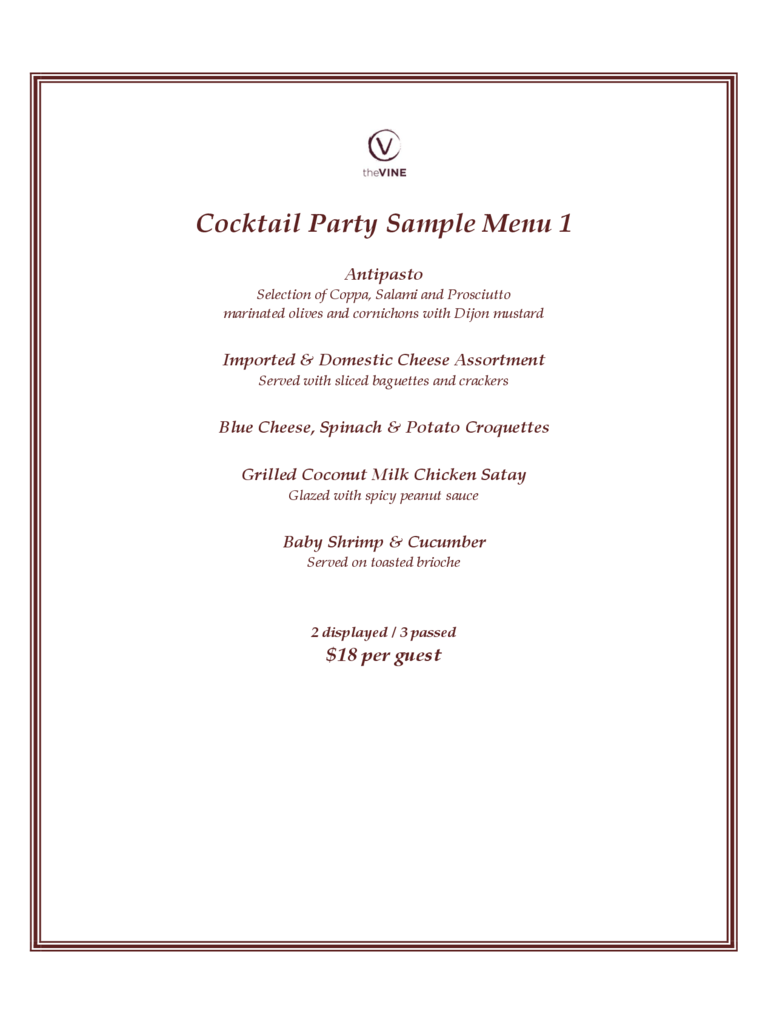 Cocktail Menu Template 2 Free Templates In PDF Word