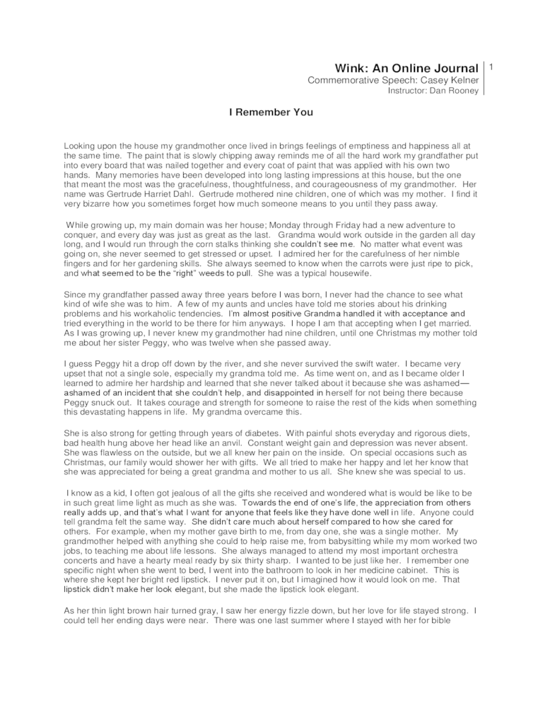 Commemorative Speech Examples  1 Free Templates in PDF Word Excel Download