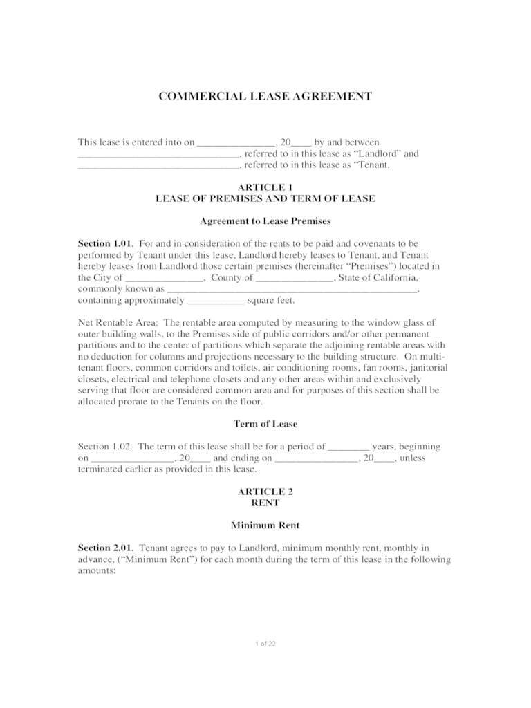 Commercial Lease Form - 53 Free Templates in PDF, Word, Excel Download