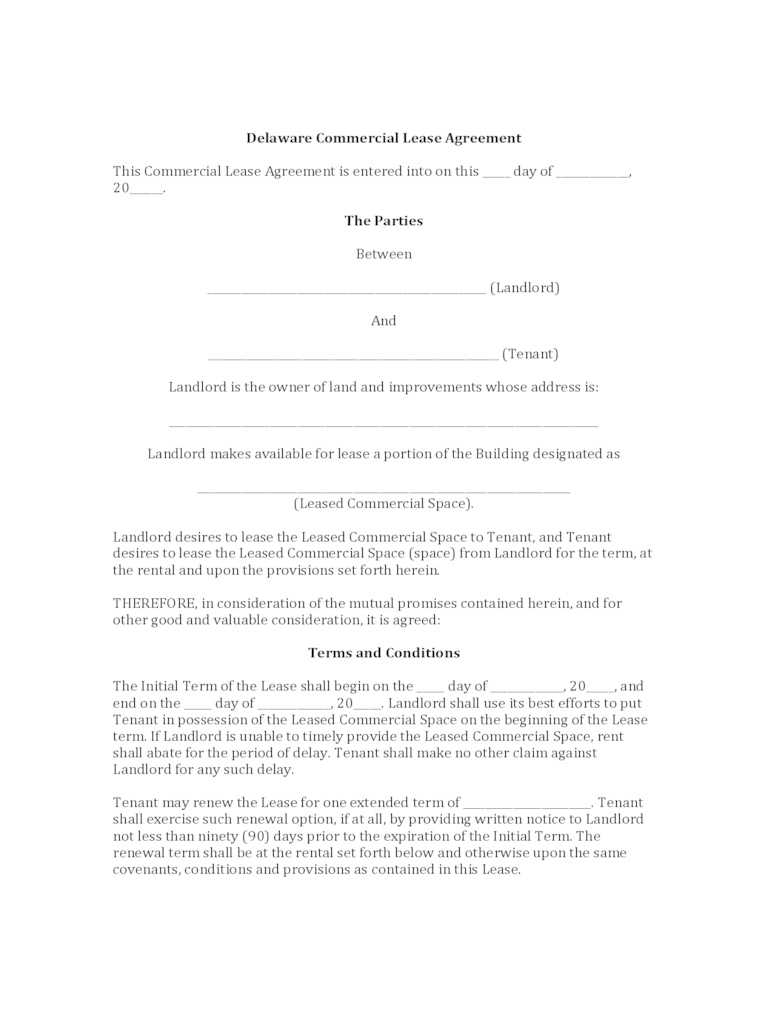 Commercial Rental Agreement Form 20 Free Templates In PDF Word Excel Download