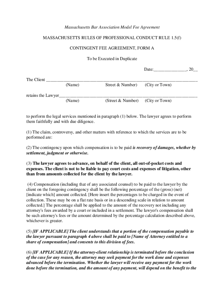 Contingency Fee Agreement Form 7 Free Templates In PDF
