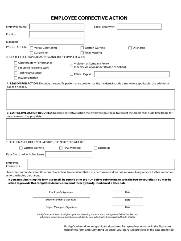 Corrective Action Plan Template - 2 Free Templates In Pdf, Word, Excel  Download