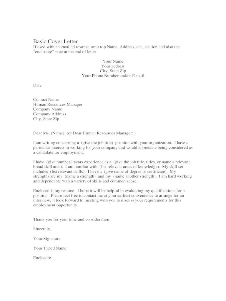 Cover Letter Examples For Jobs 3 Free Templates In PDF