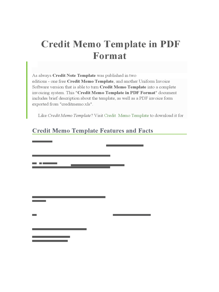 Credit Memo Template 4 Free Templates In PDF Word
