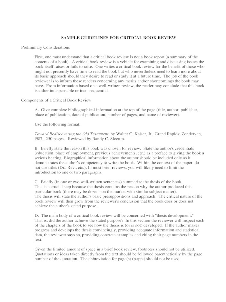 Critical Analysis Template 2 Free Templates In PDF Word